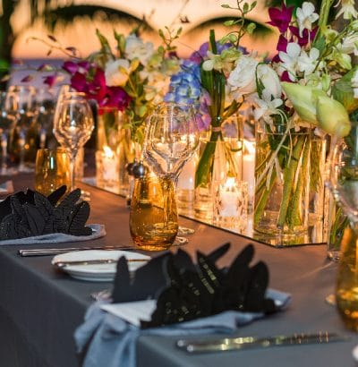 Mauritius corporate client dinner - aleit events